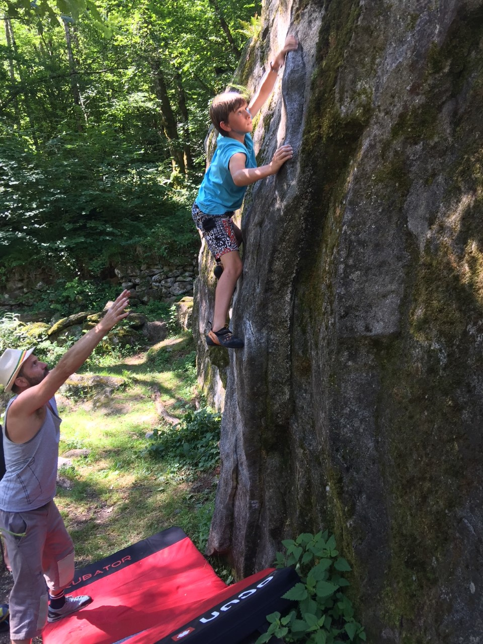 GC - escalade en ariege - blocs orlu - david aout 2018 2