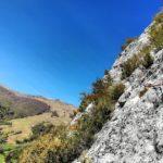 GC - escalade en ariege - falaise de genat - grande voie (1)