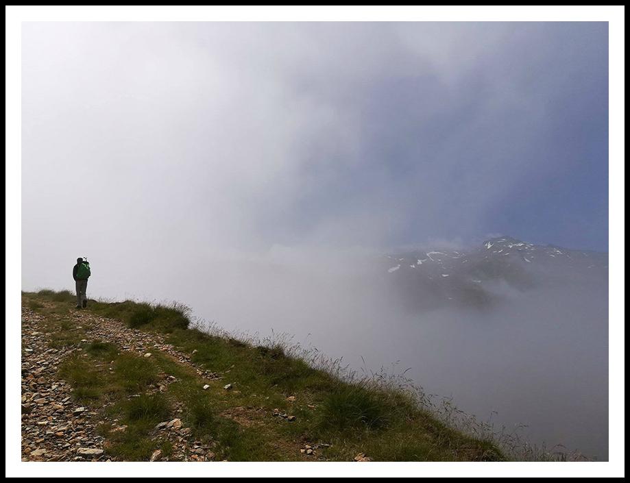 Juillet 2017 - Marche d'approche brumeuse vers Turguilla