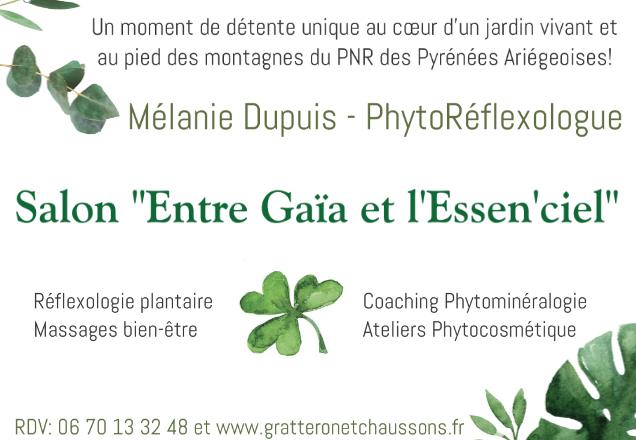 GC - Affiche Poster melanie dupuis - entre gaia et l'essenciel - reflexologie et massages