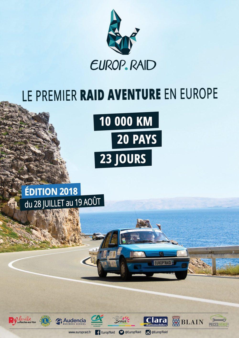 L'affiche de l'Europ'Raid 2018