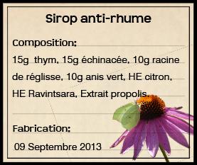 GC - sirop de thym - vert citron 2013
