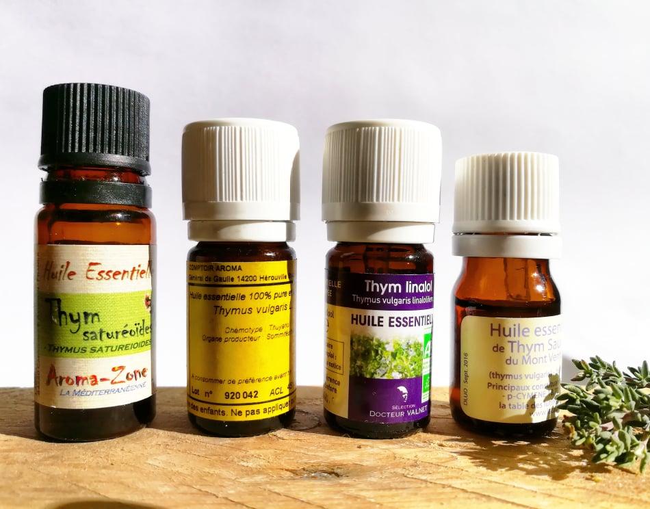GC - thym - huiles essentielles chémotypes