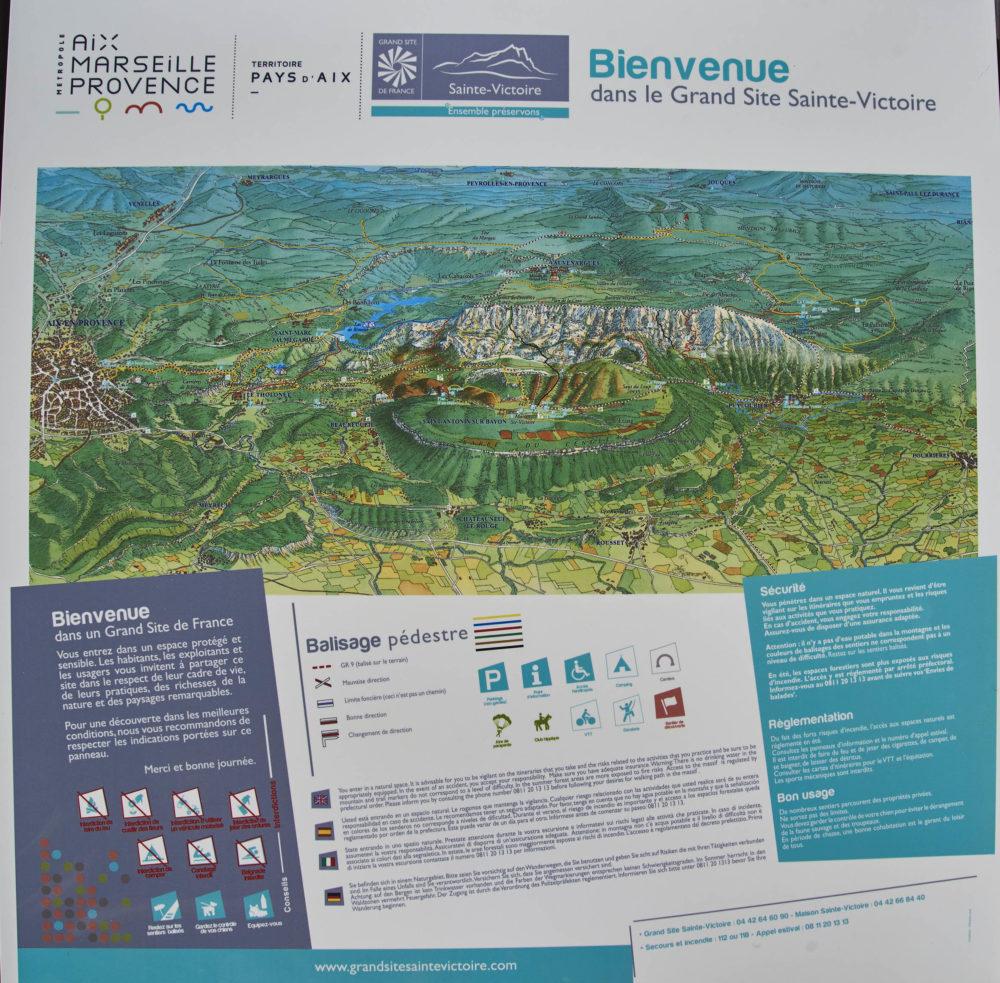 Vue d'ensemble du Massif de la Sainte-Victoire