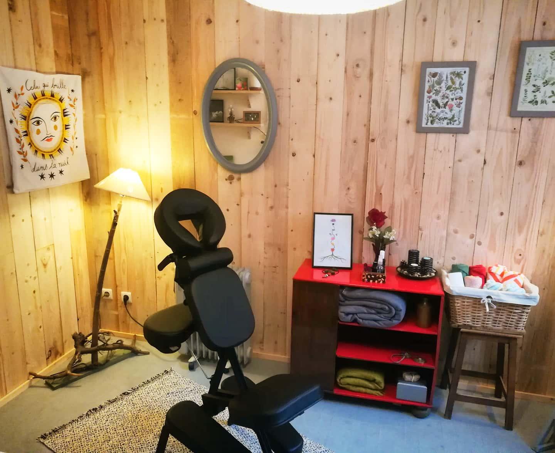 GC - reflexologie et massages bien etre ariege - mélanie dupuis - siège de massage