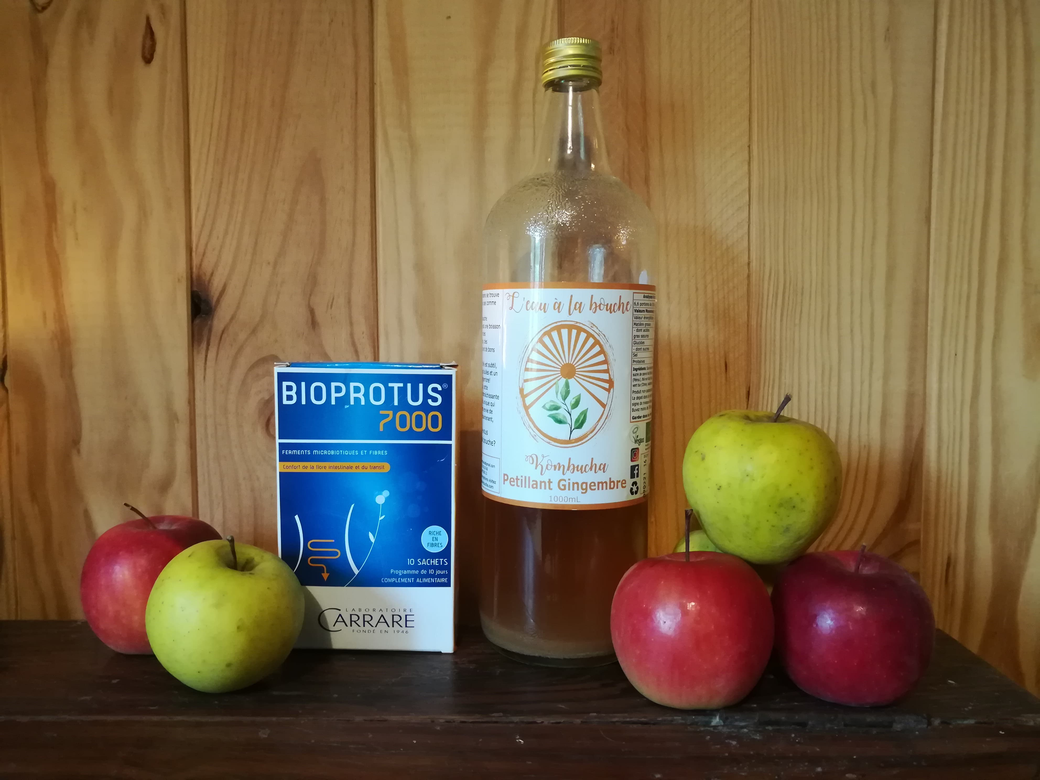 GC - probiotiques, pommes et kombucha