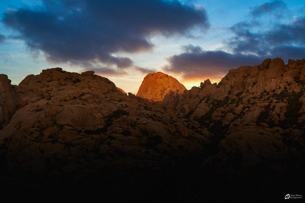 El Yelmo au coucher du soleil