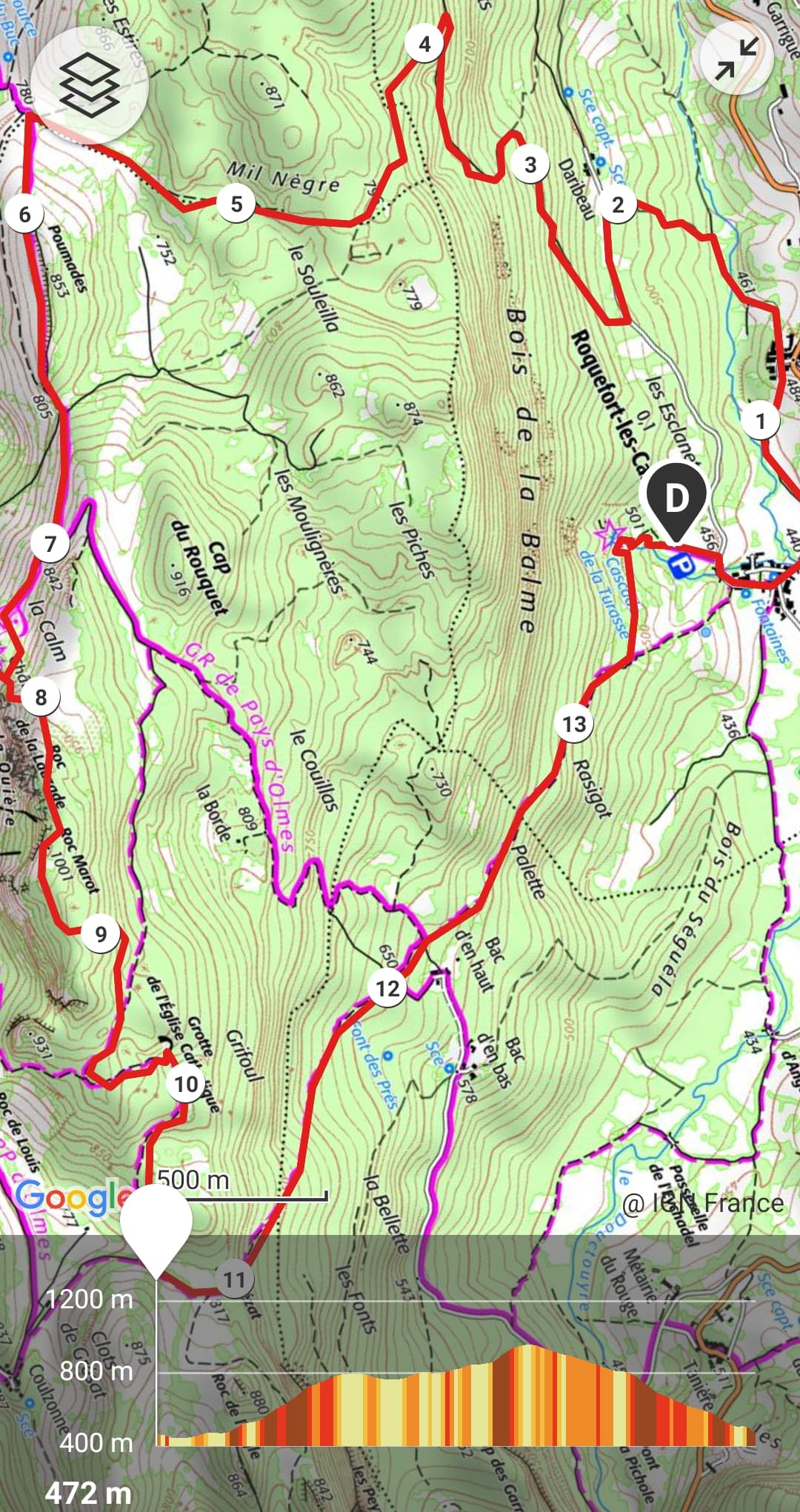 GC - trail 14km - trail des cascades ariege - 01 2021 - roquefort roquefixade (17)