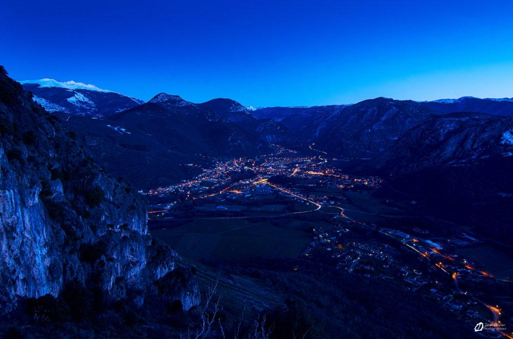 Tarascon sur Ariège depuis le Sédour