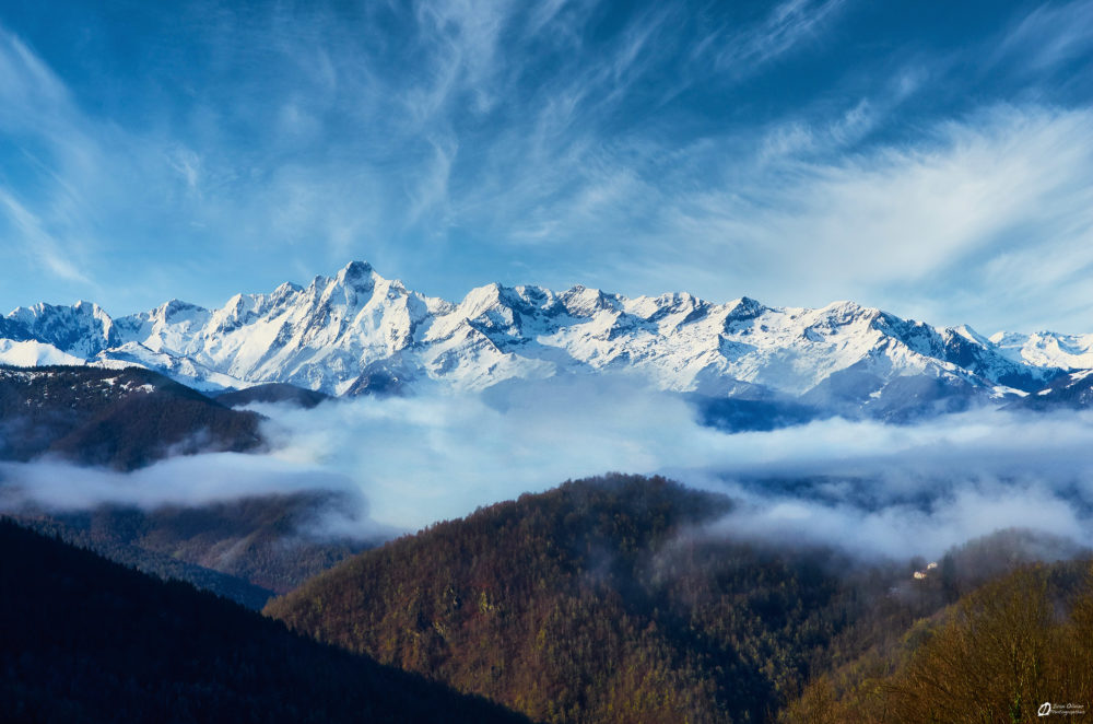 Vue sur le Mont valier depuis le Col de Port - Janvier 2021