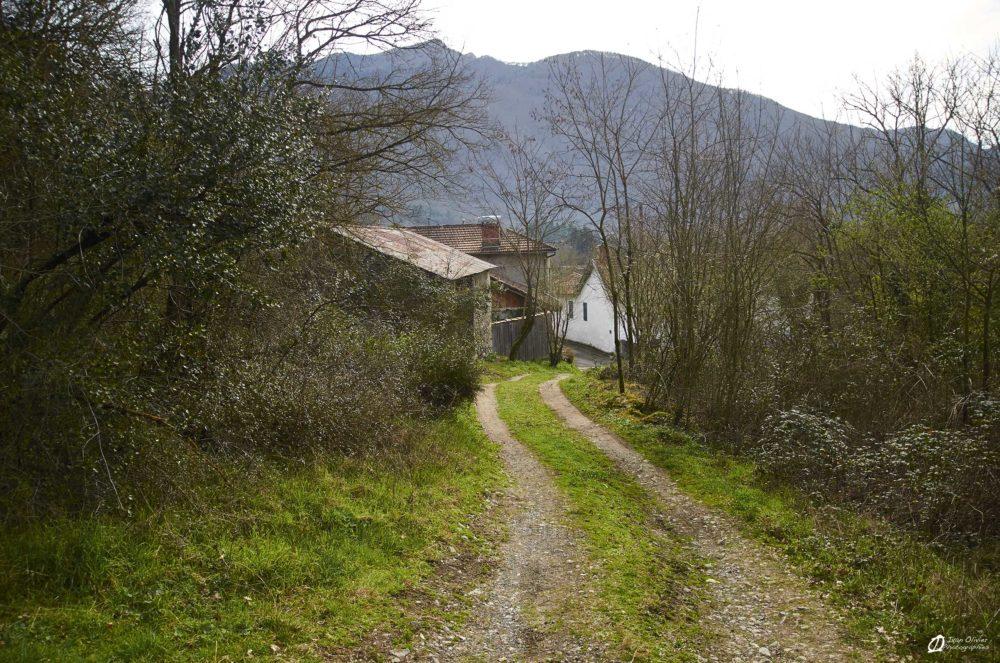 Le chemin d'accès remis en état par le club local, Février 2021