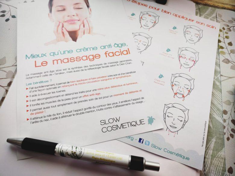 GC - flyer slow cosmétique massage visage creme