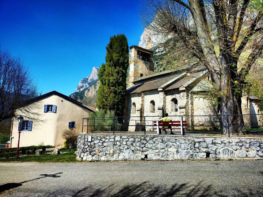 29/03/21 - Départ et arrivée à la jolie église de Verdun avec comme fond de tableau le Quié de Sinsat