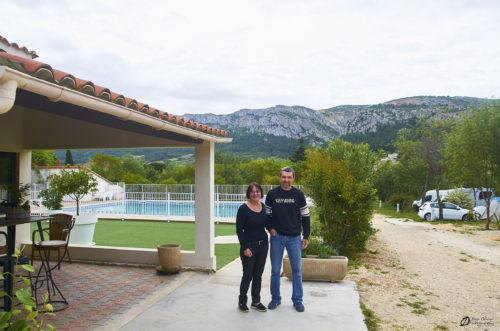 Nathalie et Gilles, les propriétaires du camping - mai 2021