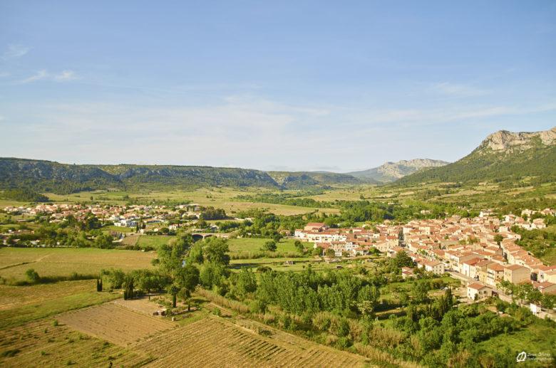 Le village de Tautavel depuis le secteur Saint Martin - mai 2021